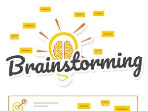 Un brainstorming en ligne